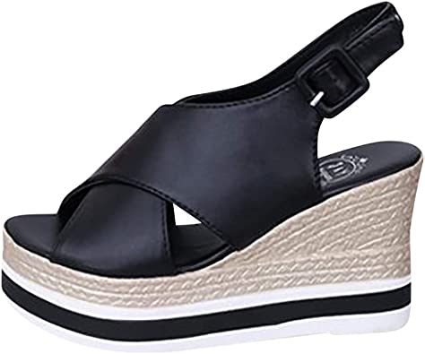 HLIYY Chaussures Mode Espadrille Sandale VintageRéTro