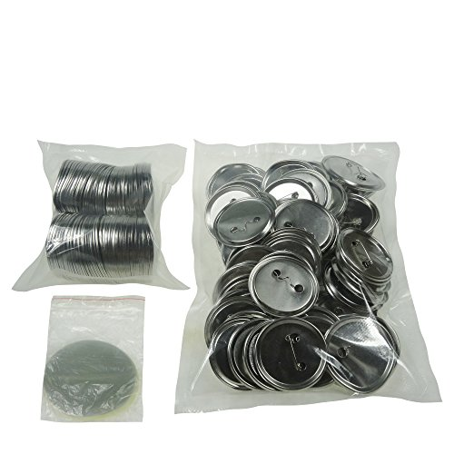 Sunshine 58mm Blank Badges & Buttons Parts for Badge & Button Making Machine (Holland-Pin Metal-Back 100sets) ()
