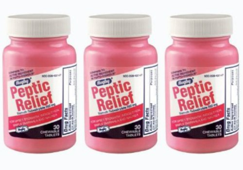 Peptic Relief - Compare to Pepto-bismol (3 Pack) (Care Peptic)