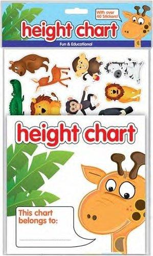 County Stationery–Pack de 3–Medidor de altura con más de 40pegatinas de los niños. diversión & educativo