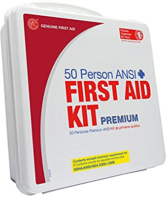 Genuine First Aid 50 Person 2009 Ansi Plus First Aid Kit Weatherproof Plastic by Adventure Medical Kits