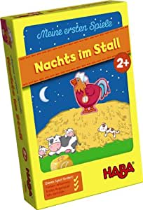 Haba 4676 Nachts im Stall! - Juego infantil sobre el corral (en alemán)