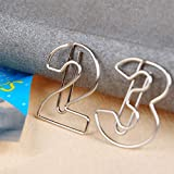 VaThaStore 10pieces/lot Metal Paper Clip Bookmark
