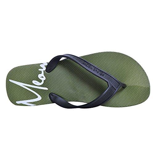 Slduv7 Men Flip Flop Sandals Beach Slim Slippers Fashion Thong Comfortable Shoes Green XcdLKtT