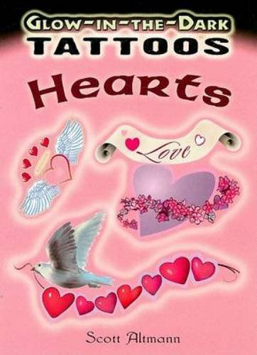 Glow-in-the-Dark Tattoos Hearts (Dover Tattoos)