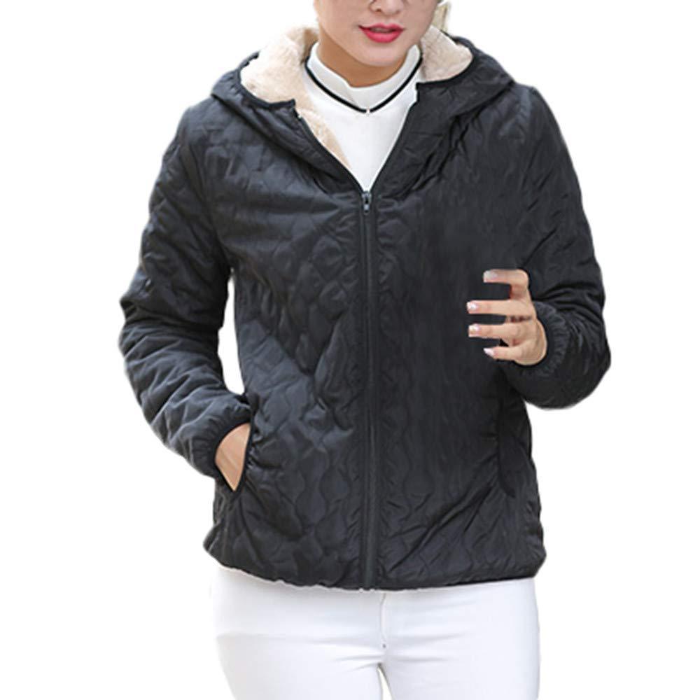 black Womens Coat Womens Warm Coat Hooded Jacket Slim Winter Parka Outwear Coats Fashion Short Section Wild Tight for Women