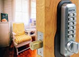 Digital Door Lock M210 Mechanical Keyless Deadbolt, Satin Chrome