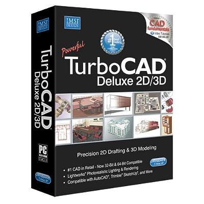 TurboCAD 20 Deluxe 2D CAD Design & 3D Modeling Software for Windows
