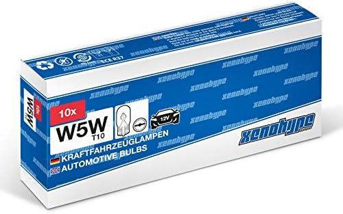 10x W5w Xenohype Premium T10 12 V 5 Watt Glassockellampe Kennzeichenbeleuchtung Kofferraumbeleuchtung Innenraumbeleuchtung Standlicht Auto