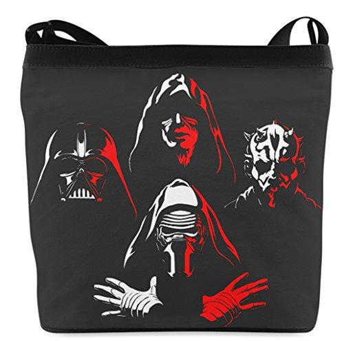 Fashion Casual and Popular Female Sling Bag Crossbody Bag Shoulder Bag with Darth Maul Darth Vader Kylo Ren Sith Star Wars Emperor Palpatine (Darth Vader Purse)