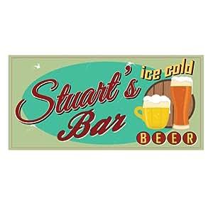 Bar signs stuart kitchen dining for Bar decor amazon