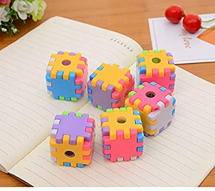 Infinxt Return Gift For Kids Birthday Party In Bulk Party Favours Cube Sharpener Set Of 12