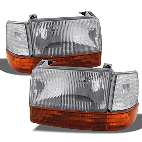 For Ford Bronco F150 F250 F350 Replacement Headlights Corner Signal Amber Bumper Lamps Driver/Passenger