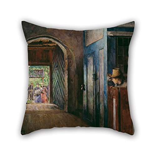 - Artistdecor Oil Painting Harriet Backer - Christening In Tanum Church Cushion Cases Best For Wedding Festival Monther Gf Wedding Valentine 16 X 16 Inches / 40 By 40 Cm(twice Sides)