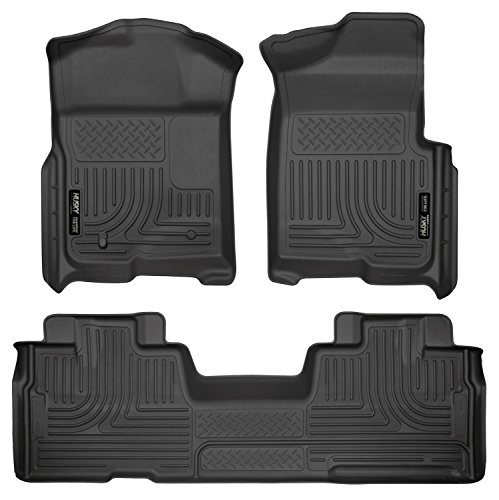 F150 Custom Ford Parts - Husky Liners Front & 2nd Seat Floor Liners Fits 09-14 F150 SuperCab