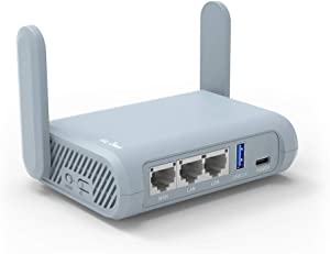 GL.iNet GL-MT1300 (Beryl) VPN Secure Travel Gigabit Wireless Router, AC1300 400Mbps (2.4GHz) + 867Mbps(5GHz) Wi-Fi, Pocket-Sized Hotspot, IPv6, Tor, NextDNS, MicroSD Slot, USB3.0 for Wi-Fi Repeater