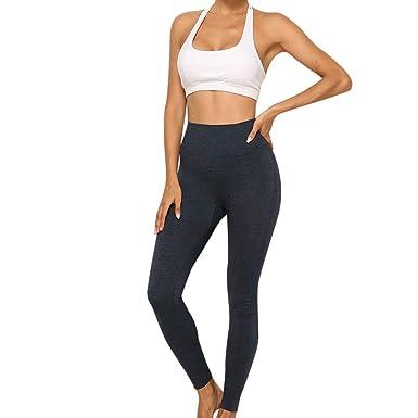 NIUQY Mujer Moda Deporte Apretado SóLido De Color Yoga ...