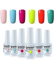 Vishine 6Pcs Soak Off LED UV Gel Nail Polish Varnish Nail Art Starter Kit Beauty Manicure Collection Set C006