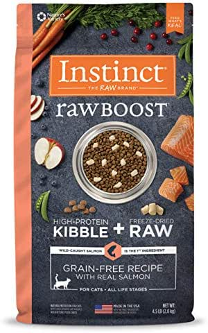 Instinct Raw Boost Grain Free Recipe with Real Salmon Natural Dry Cat Food by Nature's Variety, 4.5 lb. Bag