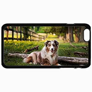 Customized Cellphone Case Back Cover For iPhone 6 Plus, Protective Hardshell Case Personalized Dog Black