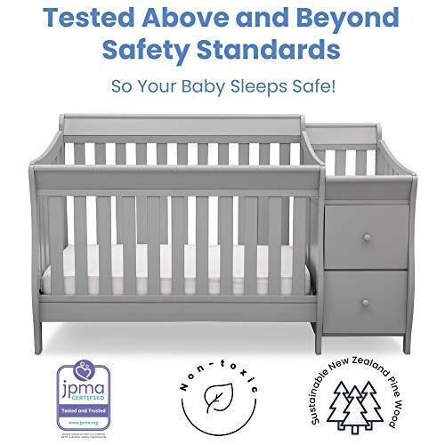 51hcLWZQ89L - Delta Children Bentley S Convertible Crib And Changer, Grey