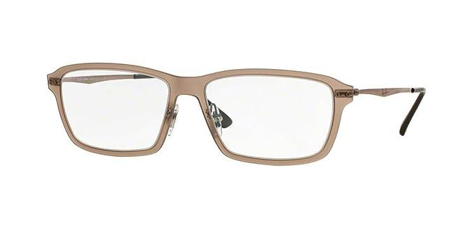 be271c82d7 Amazon.com  Ray-Ban Men s RX7038 Eyeglasses Light Matte Brown 53mm ...