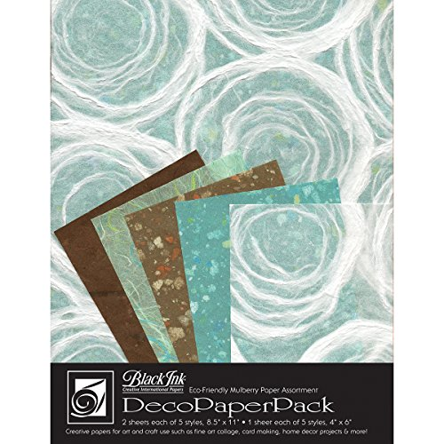 Black Ink Decorative Papers - Black Ink Decorative Paper Pack, 8.5 by 11-Inch, Whimzy