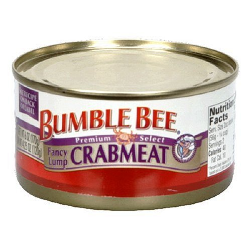 Bumble Bee Fancy Lump Crabmeat, 6-Ounce Can