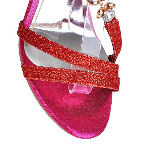 AllhqFashion Buckle Red Toe High Heels Womens Materials Solid Sandals Blend Open wtRvgwqWrU