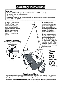 SueSport New Deluxe Hanging Sky Air Chair Swing Hammock Chair W/ Pillow and Drink Holder HC-010 from SueSport