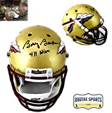 """Bobby Bowden Autographed/Signed Florida State Seminoles Schutt Full Size NCAA Gold Helmet With """"411 Wins"""" Inscription"""