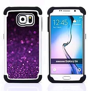 - purple shiny dust sparkling/ H??brido 3in1 Deluxe Impreso duro Soft Alto Impacto caja de la armadura Defender - SHIMIN CAO - For Samsung Galaxy S6 G9200