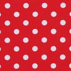 Tela roja de Michael Miller con lunares blancos pequeños