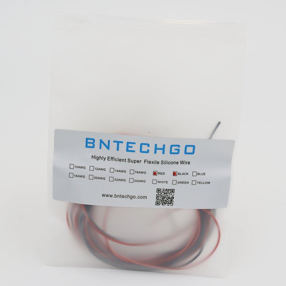 BNTECHGO 26 Gauge Silicone Wire Ultra Flexible 20 Feet high temp 200 ...