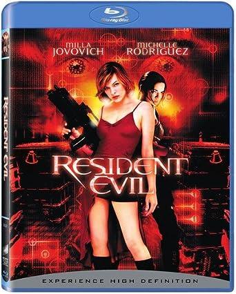 Amazon Com Resident Evil Blu Ray Milla Jovovich Michelle