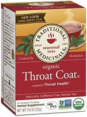 Traditional Medicinals Tea Throat Coat, 16 Bags