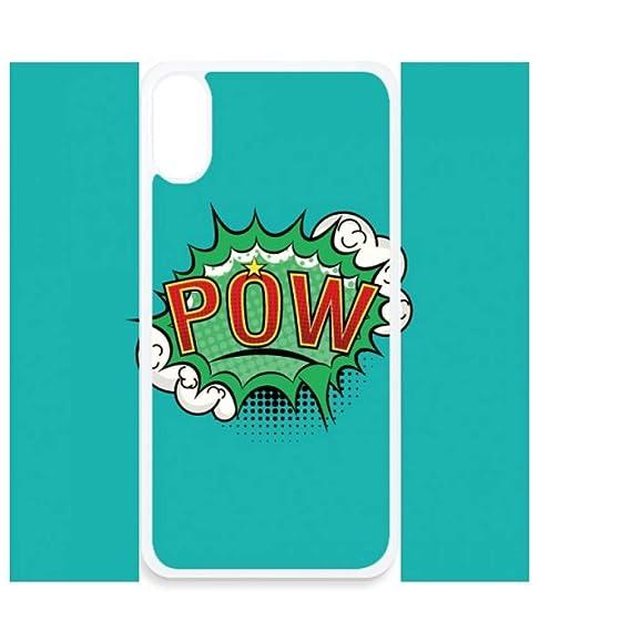 Amazon com: Bubble Pow Green Cartoon Dialog iPhone Xs Cases