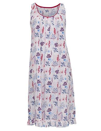 Cyberjammies 3281 Women's Heidi Blue and Red Floral Modal Night Gown Loungewear Nightdress