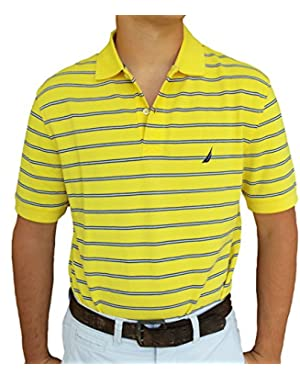 Men's Pique Mini-Stripe Polo Shirt