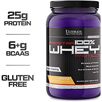 Ultimate Nutrition PROSTAR 100% Whey Protein Powder - Low Carb, Keto Friendly - 30 Servings, Banana, 2 Pounds