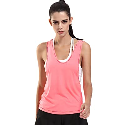 Sport Tank Tops for Women Fitness Vest with Hood Jogging Sleeveless Hoodies Black/White/Blue/Pink