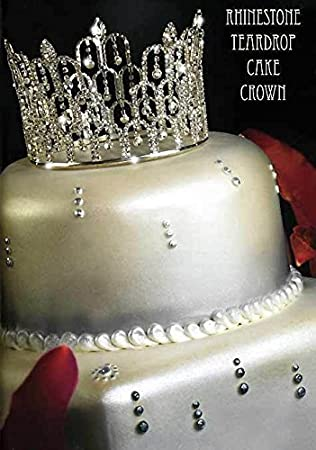 Amazon rhinestone crown tiara wedding pageant prom queen king rhinestone crown tiara wedding pageant prom queen king cake topper decoration c7 junglespirit Choice Image