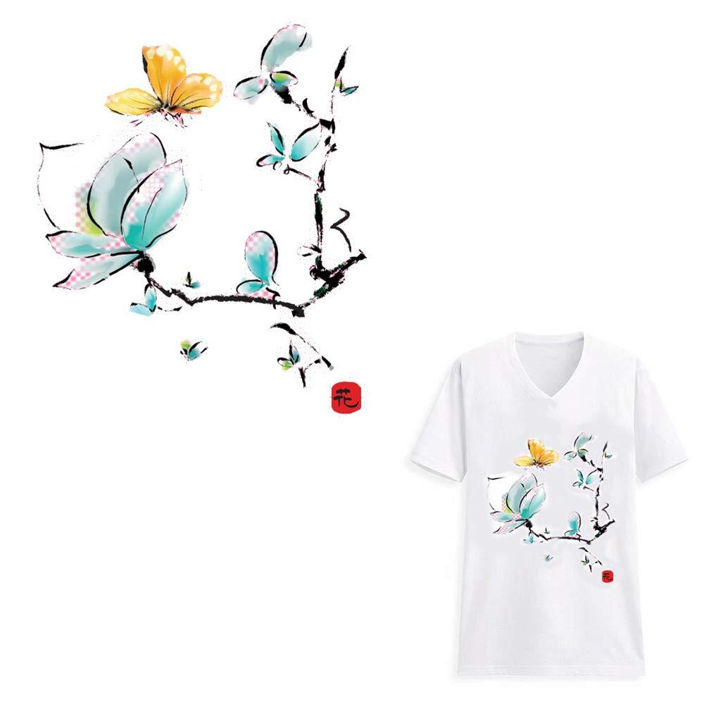 HOODS Adhesivo de transferencia de calor para camisetas, vaqueros, abrigos, accesorios de bricolaje, diseño de flores de unicornio: Amazon.es: Juguetes y ...