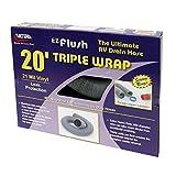 Valterra Silver 20 Foot D04-0054 EZ Flush Triple Wrap RV Drain Hose-20'