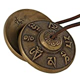 Purpledip Buddhist Tingsha Bell Tibetan Cymbals, Chimes, Manjeere Meditation Prayer Musical Instrument (10679)