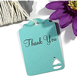 Aqua Boat Thank You Tags - Nautical Theme Party (Set of 20)