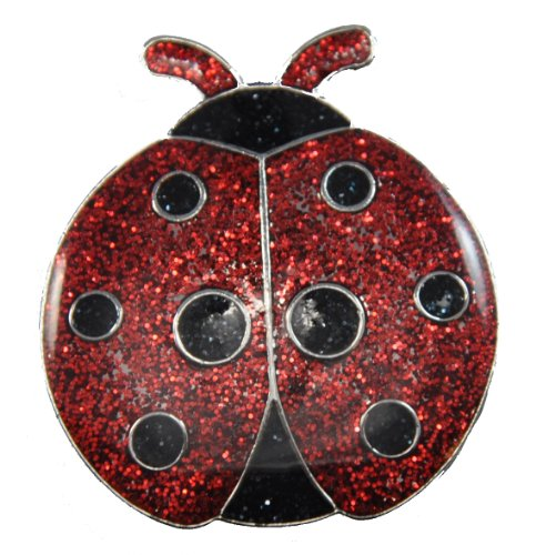Navika Ladybug Glitzy Ball Marker with Hat Clip ()