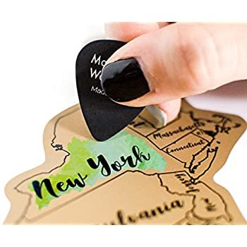 Amazoncom Made In USA ScratchOff Map Large Size X - Us scratch off map