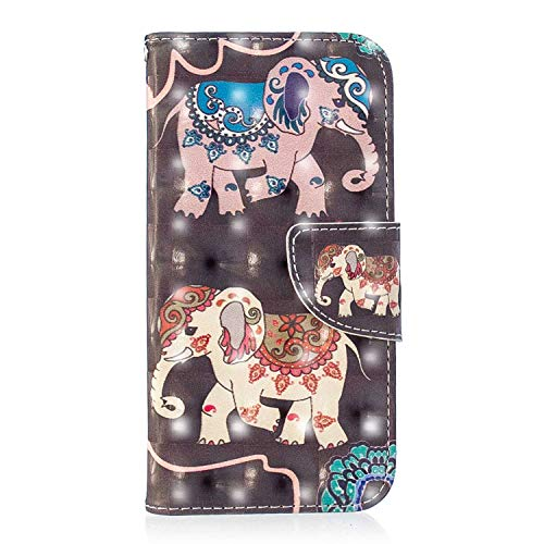iPhone X/Xs Case, Bear Village 3D Creative Printed PU Leather Magnetic Flip Folio Wallet Cover with ID and Credit Card Pockets for Apple iPhone X/Xs (#10 Butterfly)