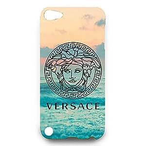 Ocean Style Versace Logo Design Phone Case 3D Hard Plastic Case Cover Snap on Ipod Touch 5 Versace Logo Design